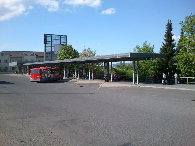 Autobusové nádraží - pohled od jihozápadu