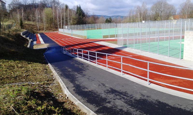 Pohled na zrekonstruované sportoviště