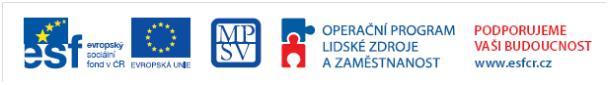Logo Operačního programu Lidské zdroje a zaměstnanost