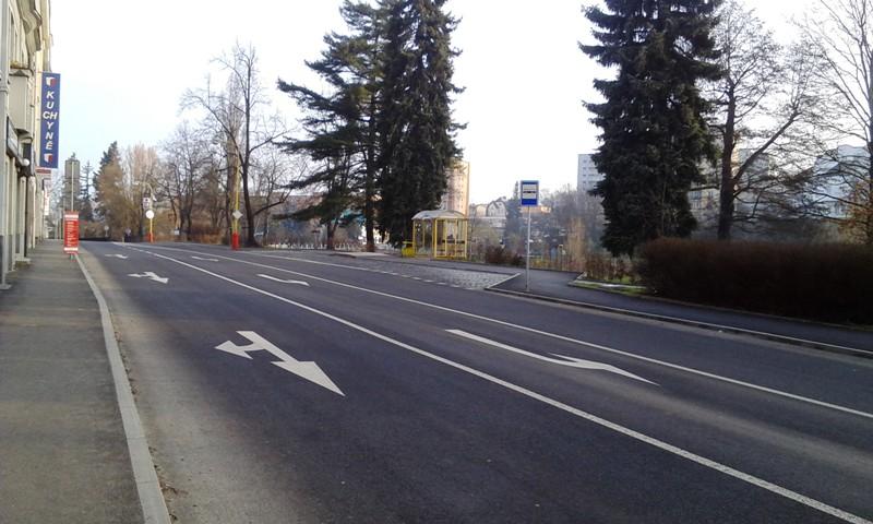 Foto ulice Čs. armády po realizaci