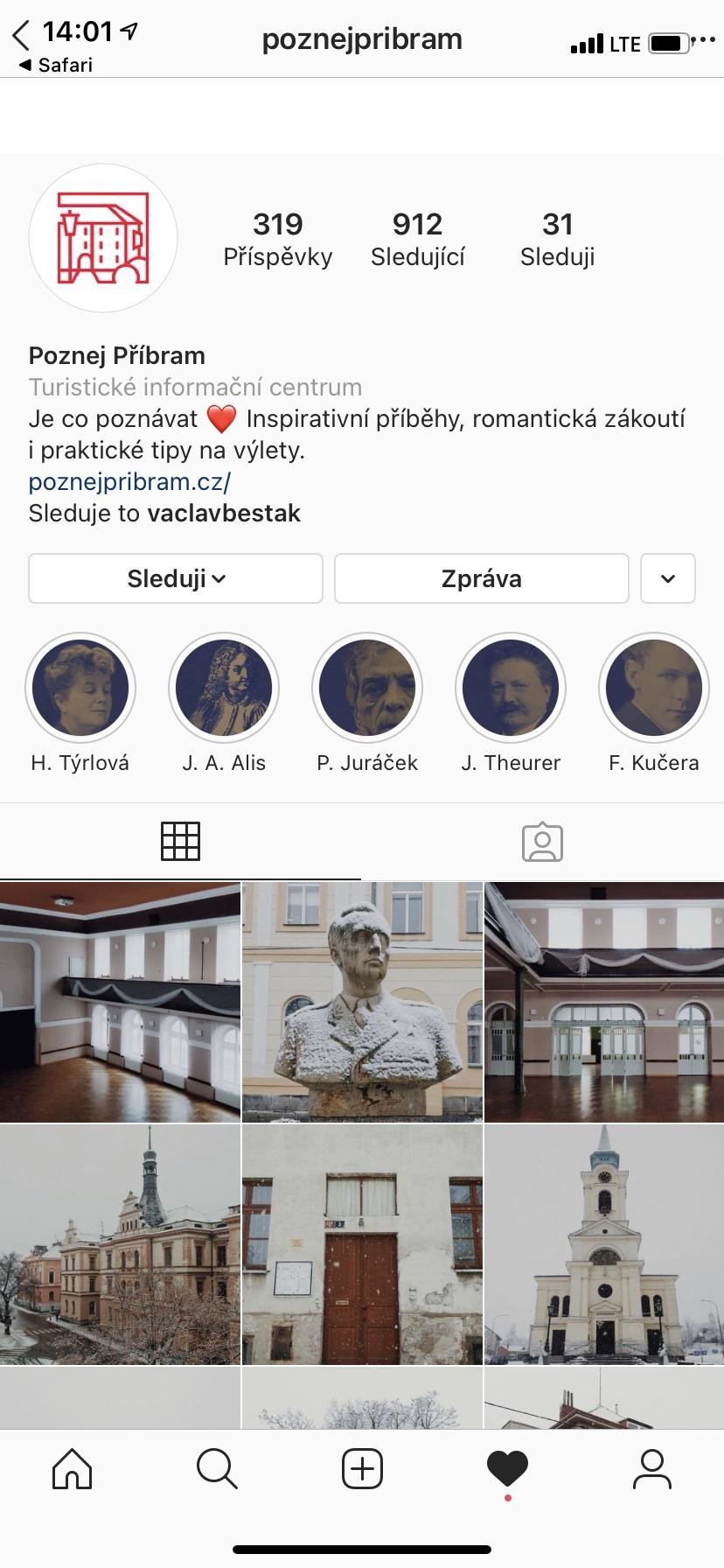 Instagram Poznej Příbram