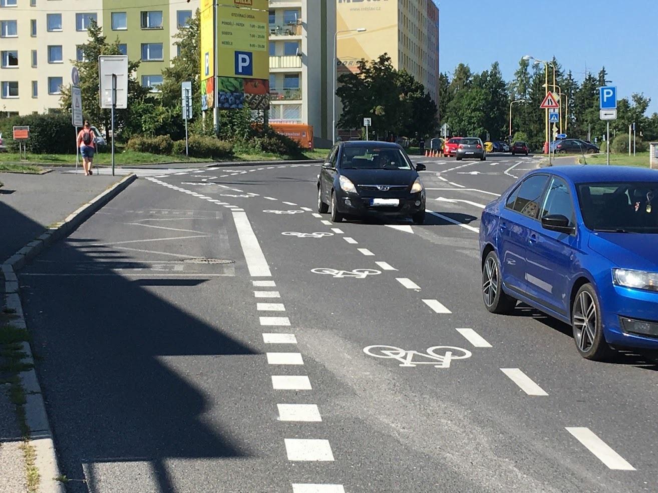 Ochranné cyklopruhy