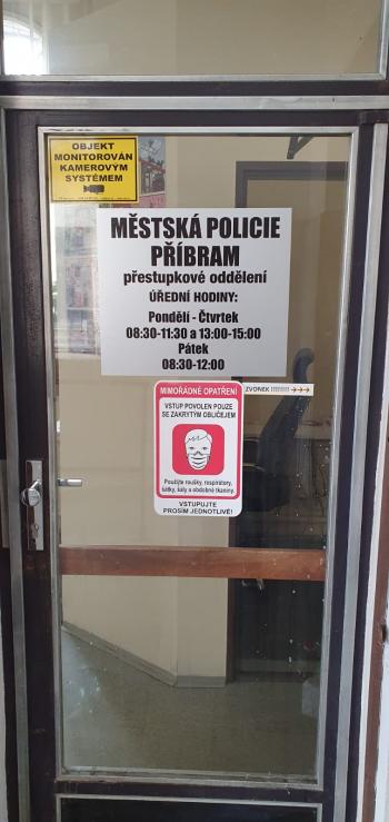 Úřední hodiny přestupkového oddělení Městské policie Příbram